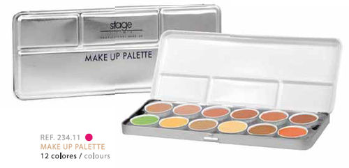 STAGE LINE MAKE UP PALETTE. 12 TONOS
